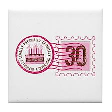 Birthday Stamp 30 Tile Coaster