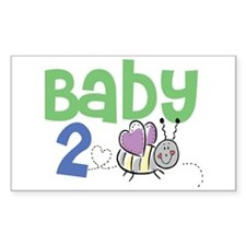 Baby 2 Bee Rectangle Decal