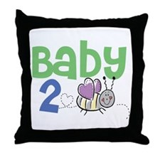 Baby 2 Bee Throw Pillow