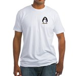 Purple Ribbon Penguin Fitted T-Shirt