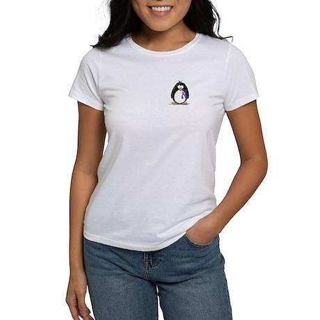 Purple Ribbon Penguin Women's T-Shirt