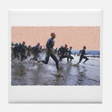 TRIATHLON SWIM START Tile Coaster