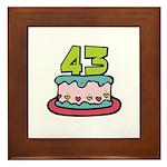 43 Birthday Cake Framed Tile