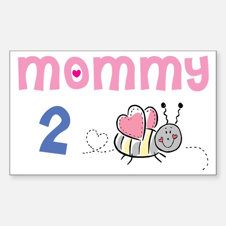 Mommy 2 Bee Rectangle Decal