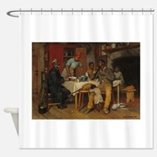 A pastoral Visit by Richard Norris Shower Curtain
