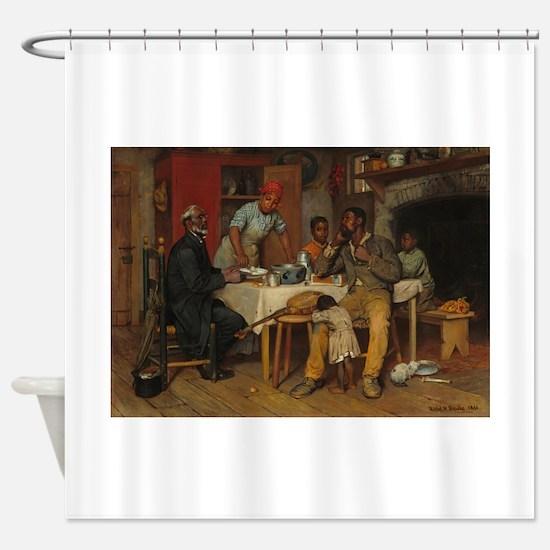 A pastoral Visit by Richard Norris Shower Curtain