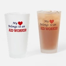 My Heart Belongs to an Aid Worker Drinking Glass