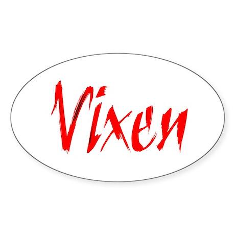 Vixen Gifts Oval Sticker