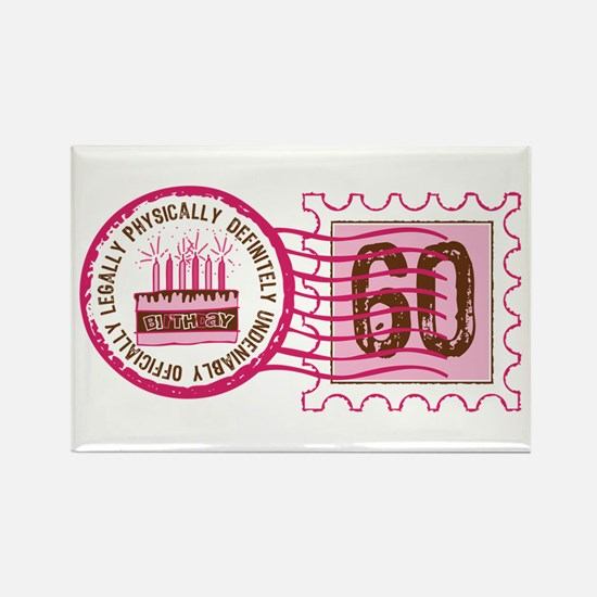 Birthday Stamp 60 Rectangle Magnet