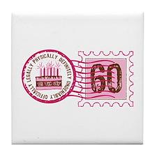 Birthday Stamp 60 Tile Coaster