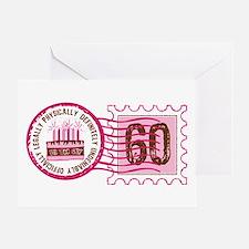 Birthday Stamp 60 Greeting Card