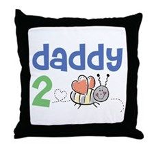 Daddy 2 Bee Throw Pillow