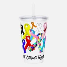 Unique Fight canine cancer women Acrylic Double-wall Tumbler