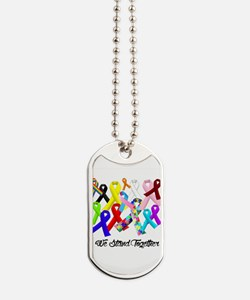 Cool Fight canine cancer women Dog Tags