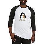 Orange Ribbon Penguin Baseball Jersey