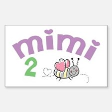 Mimi 2 Bee! Rectangle Decal