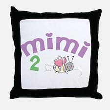 Mimi 2 Bee! Throw Pillow