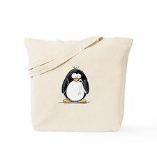 White Ribbon Penguin Tote Bag