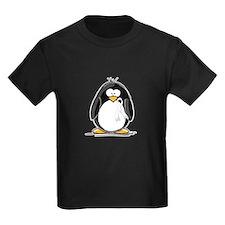 White Ribbon Penguin T