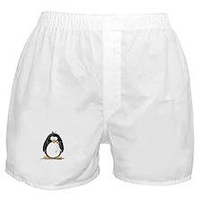 White Ribbon Penguin Boxer Shorts