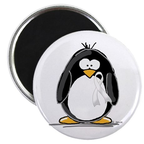 "White Ribbon Penguin 2.25"" Magnet (10 pack)"