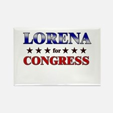 LORENA for congress Rectangle Magnet