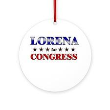 LORENA for congress Ornament (Round)