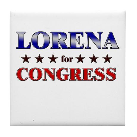 LORENA for congress Tile Coaster