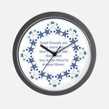 Friends are Like Stars Friendship Quote Wall Clock