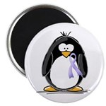 Lavender Ribbon Penguin Magnet