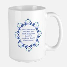 Friends are Like Stars Friendship Quote Mugs