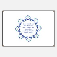 Friends are Like Stars Friendship Quote Banner