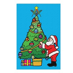 Santa's admiration Postcards (Package of 8)