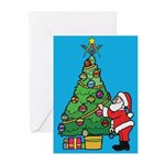 Santa's admiration Greeting Cards (Pk of 10)