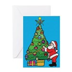 Santa's admiration Greeting Card