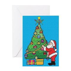 Santa's admiration Greeting Card