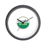 CERTIFIED BLONDE Wall Clock