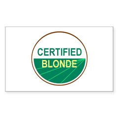 CERTIFIED BLONDE Rectangle Decal