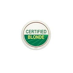 CERTIFIED BLONDE Mini Button (100 pack)