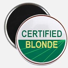 "CERTIFIED BLONDE 2.25"" Magnet (100 pack)"