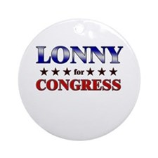 LONNY for congress Ornament (Round)