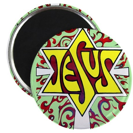 """Jesus, the Main Attraction 2.25"""" Magnet (10 p"""