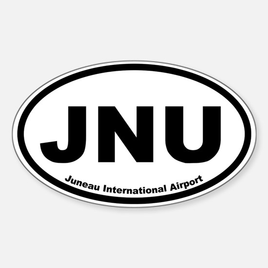 Juneau International Airport Oval Decal