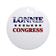 LONNIE for congress Ornament (Round)