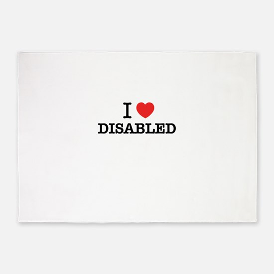 I Love DISABLED 5'x7'Area Rug