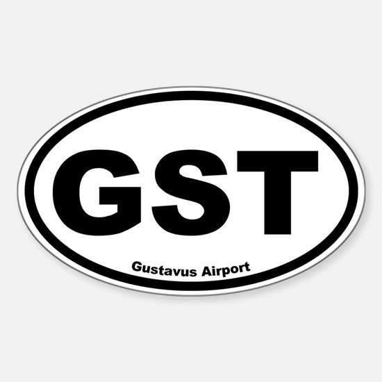Gustavus Airport Oval Decal