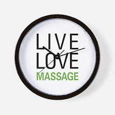 Live Love Massage Wall Clock