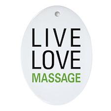 Live Love Massage Oval Ornament