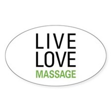 Live Love Massage Oval Decal