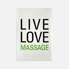 Live Love Massage Rectangle Magnet